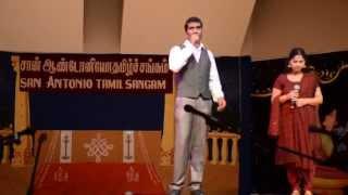 Valai - Valai Osai Karaoke - Magesh Elangovan @ San Antonio Tamil Sangam Diwali celebrations 2014