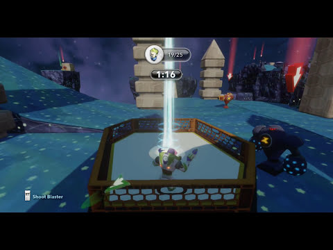 Disney Infinity, Buzz Lightyear Figure Gameplay and Challenge Full Expierience HD