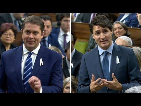 Prime Minister Trudeau and Andrew Scheer spar in first question period after election