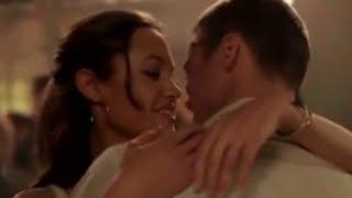 Angelina Jolie in Hot Scene - angelina jolie romantic scene - angelina jolie kiss brad pitt