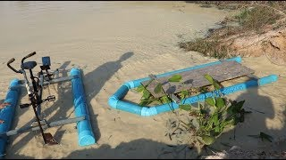 Homemade invention: PVC Boat invention and testing