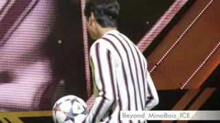 20170219【The Originality of Lee Min Ho】Minho gave 2nd Floor fans his signed football by kicking😂