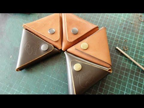 Работа с кожей. Монетница. Coin case leather hand made
