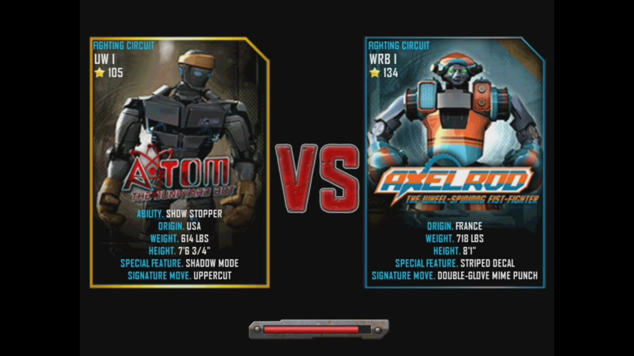 Real Steel Wrb Albino Real Steel Wrb Atom vs Axelrod