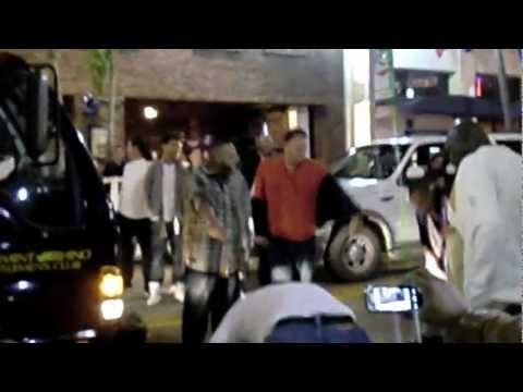 Fight in downtown West Palm Beach that stoped cars 12-9-2010