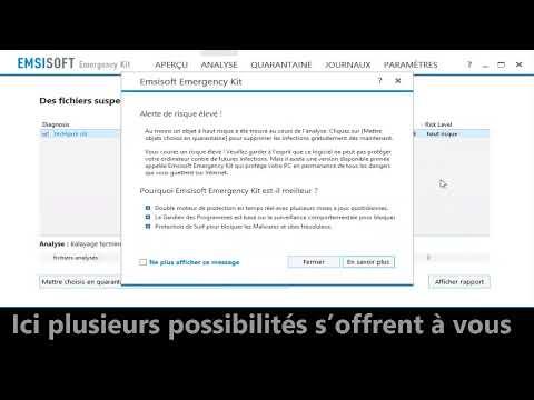 Supprimer les malwares et  les logiciels potentiellement non voulus PUPs à l'aide d'Emsisoft