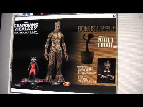 Rocket and Groot Hot Toys on BBTS for Preorder