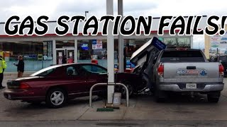 Top 5 Funniest Women Gas Station Fails Compilation - [2015]