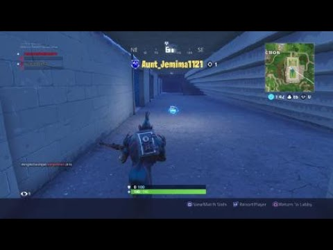 Funny fotnite clip in the new soccer stadium.