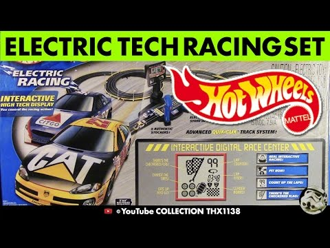 UNIQUE NASCAR HOT WHEELS INTERACTIVE LCD RACE CENTER HO Scale Slot Car Track Cars & Tools