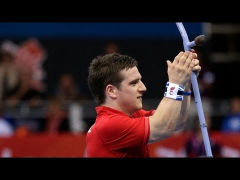 Amazing Table Tennis shot by David Wetherill - London 2012 Paralympic Games