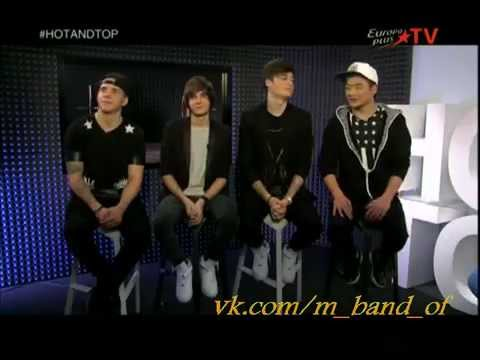 Группа MBAND в программе HOT&TOP на Europa Plus TV ( 18.12.2014 )