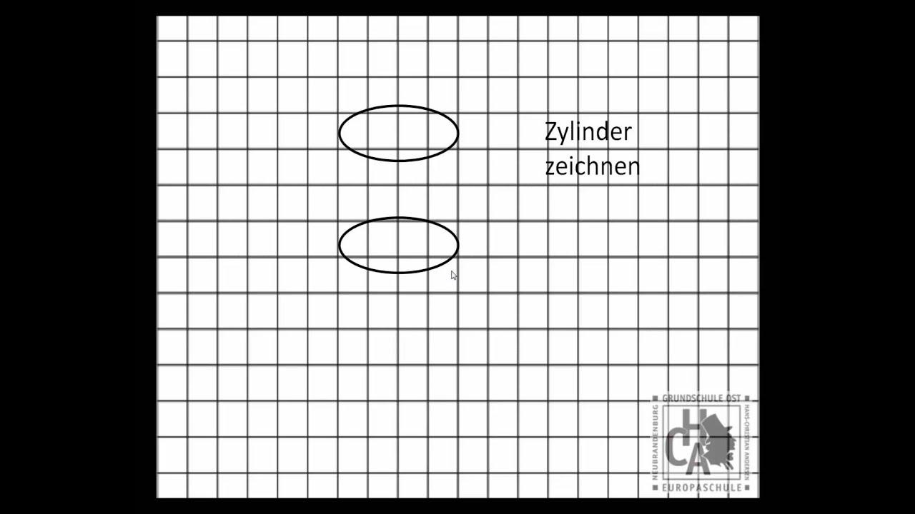 zylinder in der perspektive zeichnen youtube