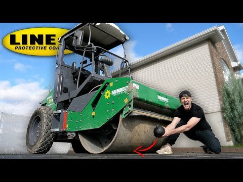 CAN LINE-X SURVIVE A ROAD ROLLER? (LINE-X EXPERIMENT) As Seen On TV Test! thumbnail