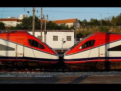 CP 4000 Testes tracção múltipla com Comboios Alfa Pendulares CP 4007 e CP 4008 em Coimbra. 2005. Comboios de Portugal. tog.