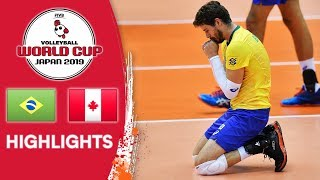 BRAZIL vs. CANADA - Highlights | Men's Volleyball World Cup 2019