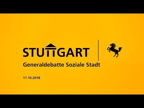 """Generaldebatte """"Soziale Stadt"""" des Stuttgarter Gemeinderats"""