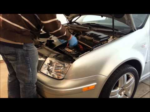 How to remove / replace battery on a MK4 VW Jetta GOLF VW battery replacement