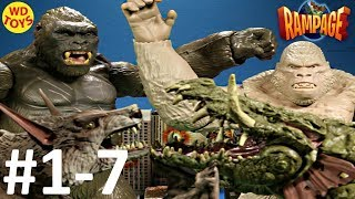 New Rampage The Movie Toys Action Sequences Video's 1-7 Compilation King Kong Vs George