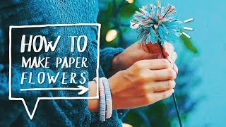 Diy Upcycle Room Decorations Magazine Flowers   Decora Tu Cuarto Con Flores De Revista | Recicla
