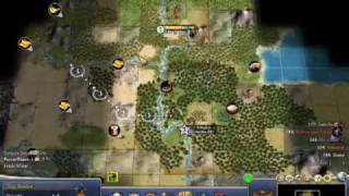 Civilization IV Strategy Walkthrough 100 Turns Segment 2 - Video 2
