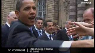US President Barack Obama arrives in France
