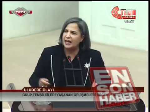 Gültan Kisanak'ın Uludere-Roboski Katliamına İlişkin Meclisteki Konuşması