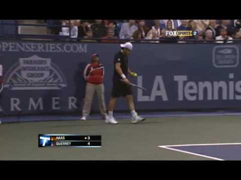 Los Angeles SF - Tommy Haas vs Sam Querrey (First set) Video