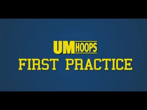 Michigan Basketball First Practice 2013-14