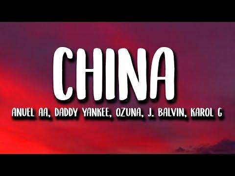 Anuel AA - China (Letra/Lyrics)  J. Balvin, Daddy Yankee, Ozuna, Karol G