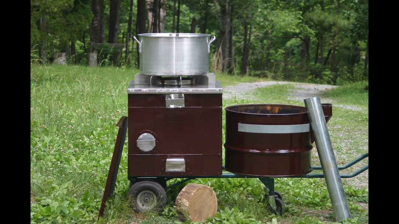 Amazing new improved biomass cooking stove cooks outdoor for Outdoor wood cooking stove