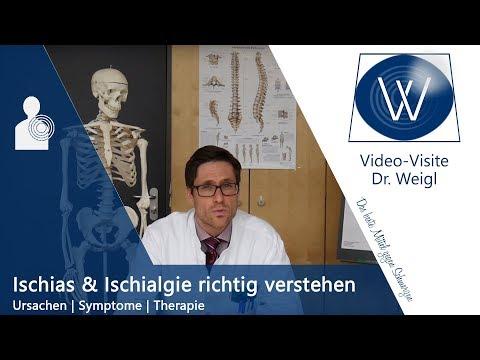 Ischias, Ischiasschmerzen - Ursachen, Symptome und Therapie der Ischialgie
