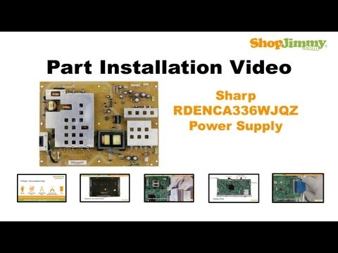 LCD TV REPAIR TV WILL NOT TURN ON - Sharp TV Power Supply Board Replacement Models LC-46 LC-52 LC-C