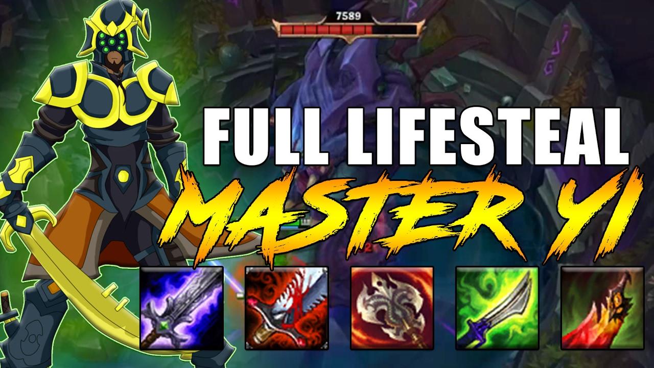 MAXIMUM LIFESTEAL MASTER YI [ SOLO BARON ] LoL Master Yi Gameplay Lozo