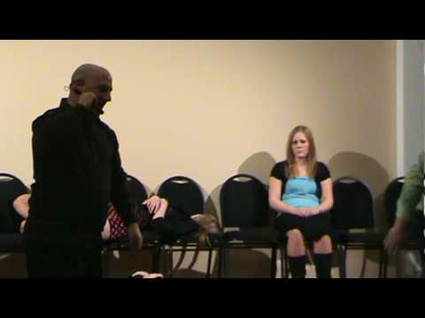 Edmonton Alberta Hypnotist Joe Francis Has Girl Jump Him