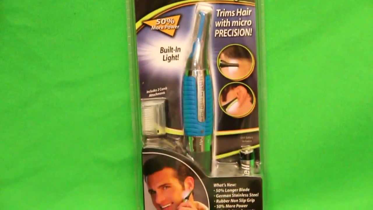 micro touch max hair remover review does this hair trimmer really work youtube. Black Bedroom Furniture Sets. Home Design Ideas