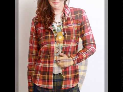 Best & New Fashion Women's Flannel Plaid Shirts 2014
