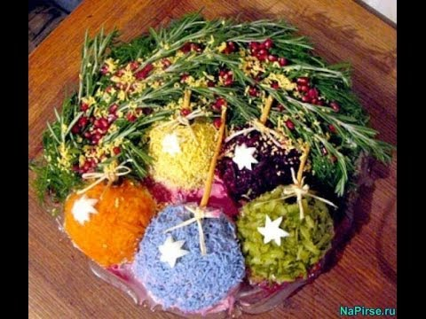 Новогодние салаты - как украсить салаты на Новый год с ...: http://www.youtube.com/watch?v=uPEh7GfggBk