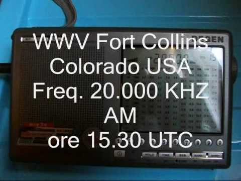 Degen 1103 radio station time WWV Fort Collins Colorado  (USA)