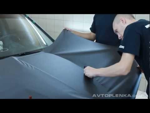 Видео как клеить карбоновую плёнку
