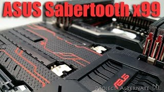 ASUS Sabertooth x99 TUF Motherboard unboxing & MOD