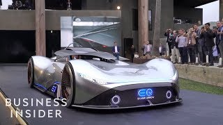 Mercedes-Benz EQ Silver Arrow Show Car's Roof Comes Down Around You