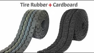 RC Tire Rubber for RC Heavy Truck Remote Control Car - RC Cardboard Homemade.