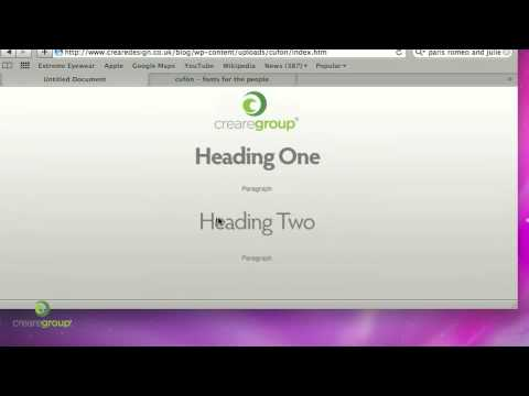 0 Web Design Tutorial   Cufon Font Replacement