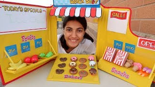Kids Pretend Play Baking with Snack Shop Toy Set!