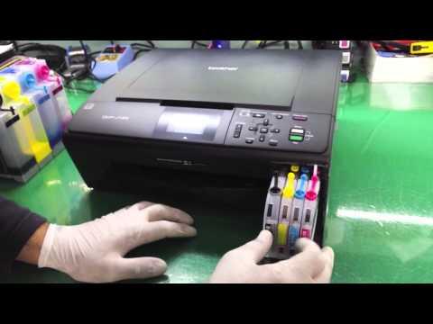 Instalação do Bulk Ink na Brother DCP 165   J125   J140W - SULINK