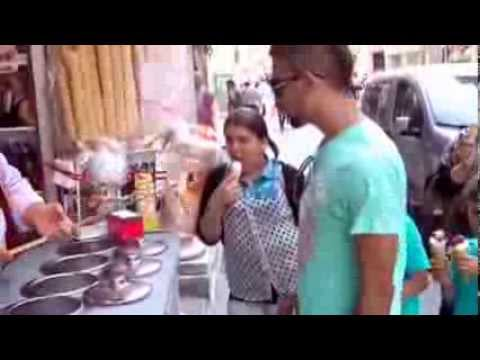 This Turkish Ice Cream Man Is A Magician video