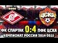 Клип о матче Спартак ПФК ЦСКА 0 4 Review Spartak CSKA Moscow 0 4 ILoveCSKAvideo mp3