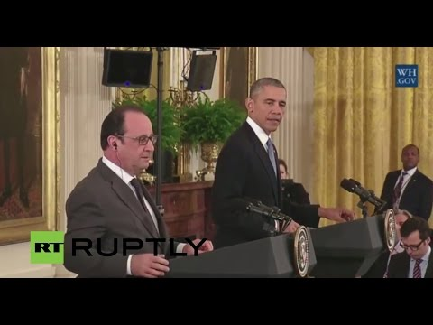 LIVE: Obama and Hollande to discuss anti-IS coalition