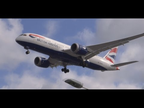 British Airways Boeing 787 Dreamliner - Landing 27R Heathrow Airport